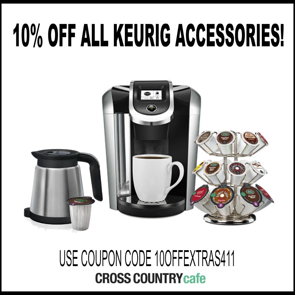 10 percent off all Keurig accesories