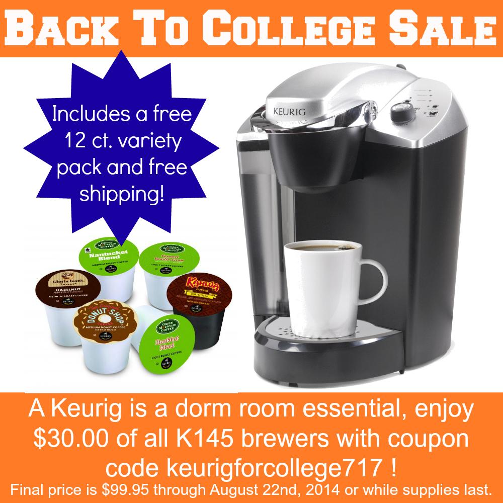 Back to college Keurig brewer sale