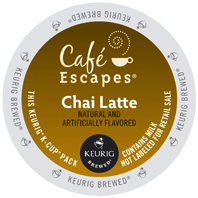 Cafe Escapes Chai Latte Keurig® K-Cup® coffee