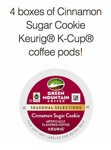 Cinnamon Sugar Cookie K-Cup® coffee giveaway