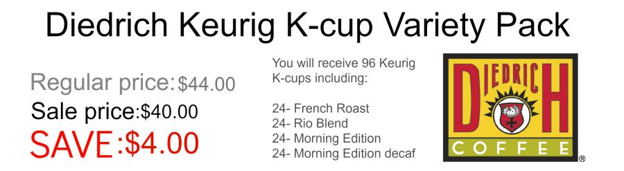 Diedrich Keurig K-cup variety pack