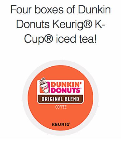Dunkin Donuts Keurig® K-Cup® coffee giveaway!