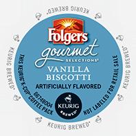 Folgers Vanilla Biscotti Keurig Kcup coffee