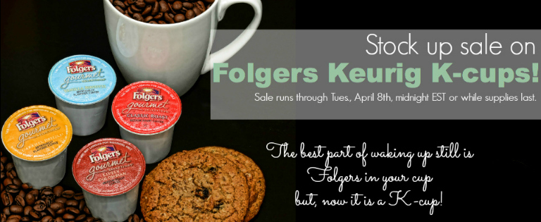 Wacky Tuesday Keurig K-cup coffee sale on all Folgers varieties!