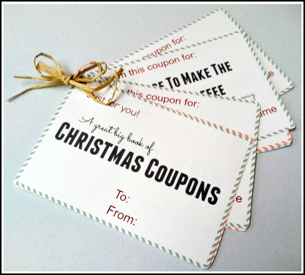 Free printable Christmas coupon book