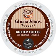 Gloria Jeans Butter Toffee Keurig K-cup coffee