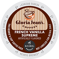 Gloria Jeans French Vanilla Supreme Keurig Kcup coffee