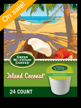 Green Mountain Island Coconut Keurig Kcup coffee
