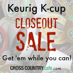 Keurig K-cup Closeout Sale