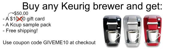Black Friday Keurig brewer package offer