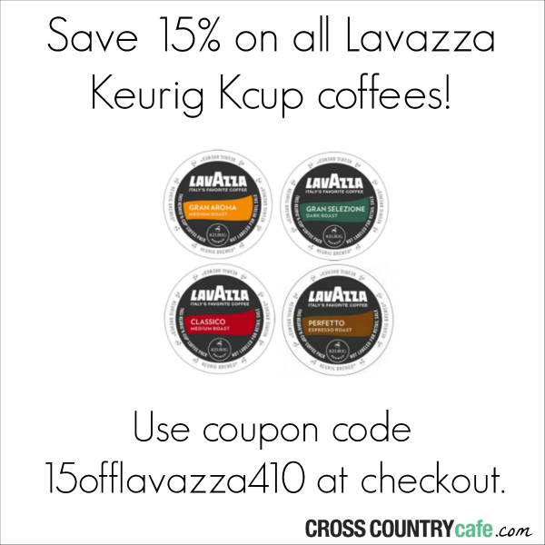 Lavazza Keurig Kcup coffee coupon code