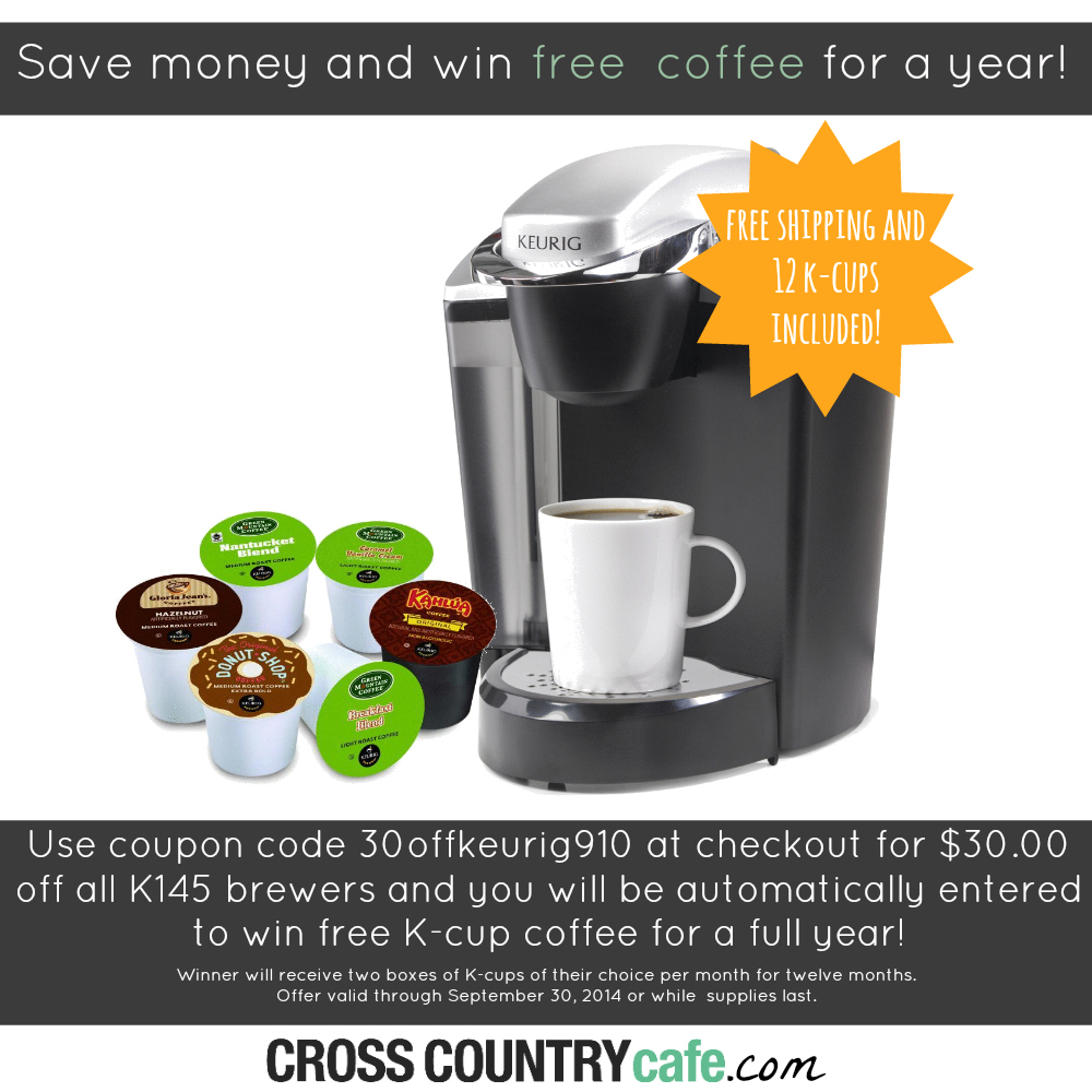National Coffee Day Keurig brewer sale and K-cup giveaway