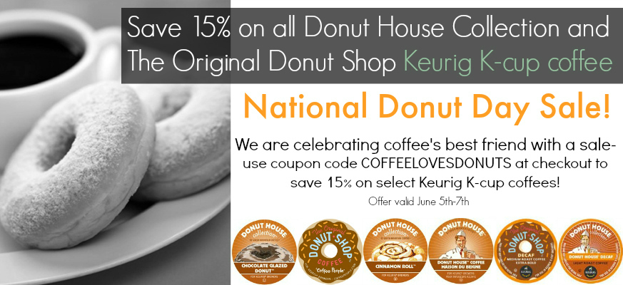 National Donut Day Keurig Kcup coffee sale