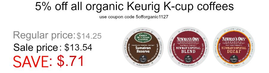 Organic Keurig K-cup coffee