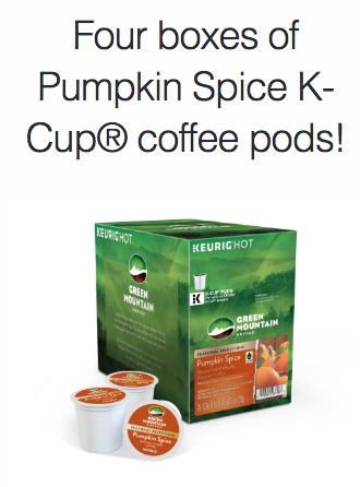 Pumpkin Spice Keurig®  K-Cup®  coffee giveaway
