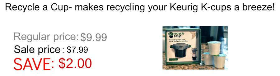 Recycle a K-cup Black Friday Sale