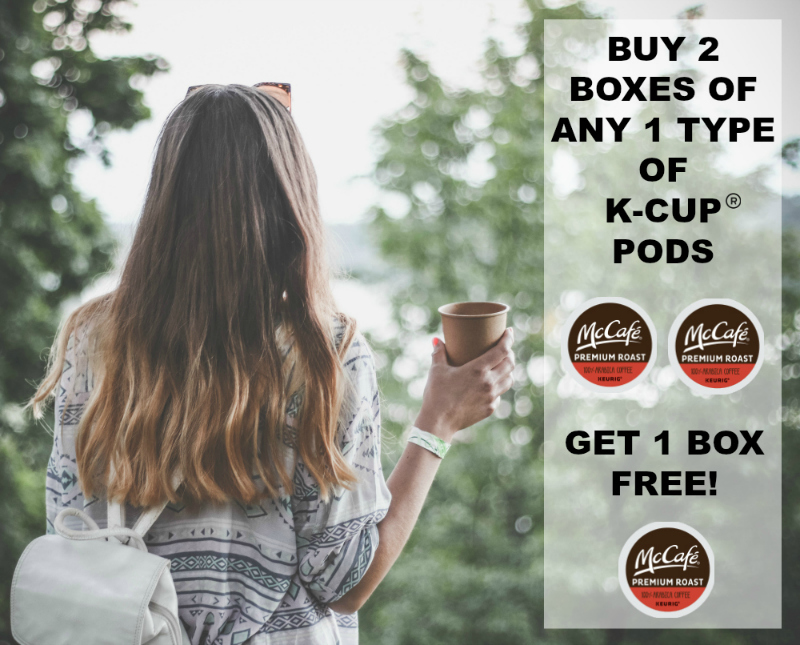 Buy 2 boxes of K-Cup® pods and get 1 FREE!