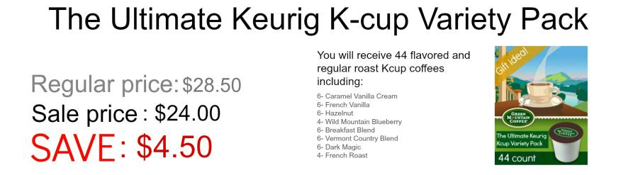 The Ultimate Keurig K-cup Variety Pack Black Friday sale