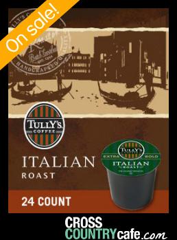 Tully`s Italian Roast Extra Bold Keurig K-cup coffee