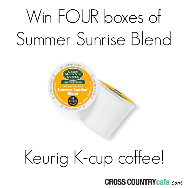 Win Summer Sunrise Keurig Kcup coffee