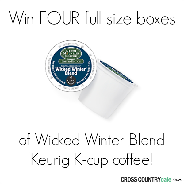 Win four boxes of Wicked Winter Blend Keurig K-cup coffee
