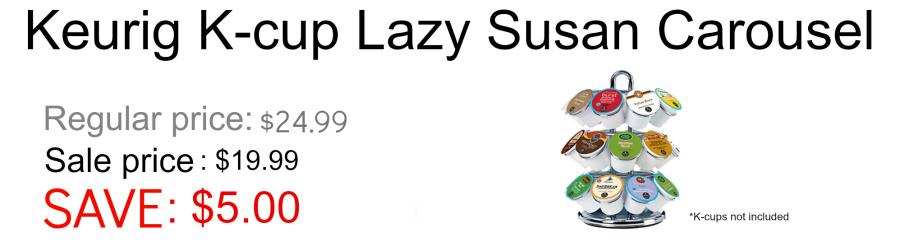 Lazy Susan Keurig K-cup carousel
