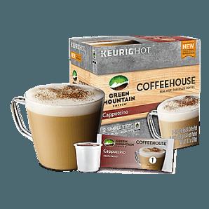 Green Mountain Coffeehouse Cappuccino Keurig Kcups
