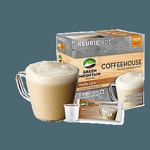 Green Mountain Coffeehouse Vanilla Latte Keurig Kcups