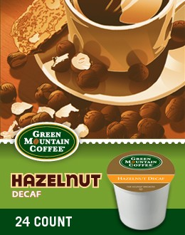 Decaf Hazelnut Keurig Kcup coffee