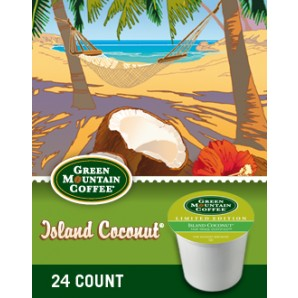 Green Mountain Island Coconut Keurig Kcup coffee