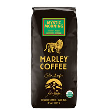 Marley Coffee Mystic Morning whole bean coffee 8 ounce bag