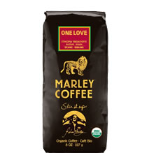 Marley Coffee One Love ground coffee 8 ounce bag
