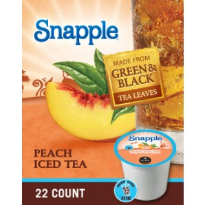 Snapple Peach Iced Tea Brew Over Ice Keurig Kcups