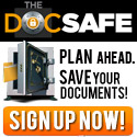 Plan ahead!  Save your important documents with The DocSafe