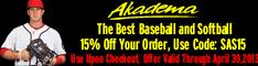 Akadema baseball Deals