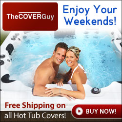 Free shipping of all hot tub covers at TheCoverGuy.com!