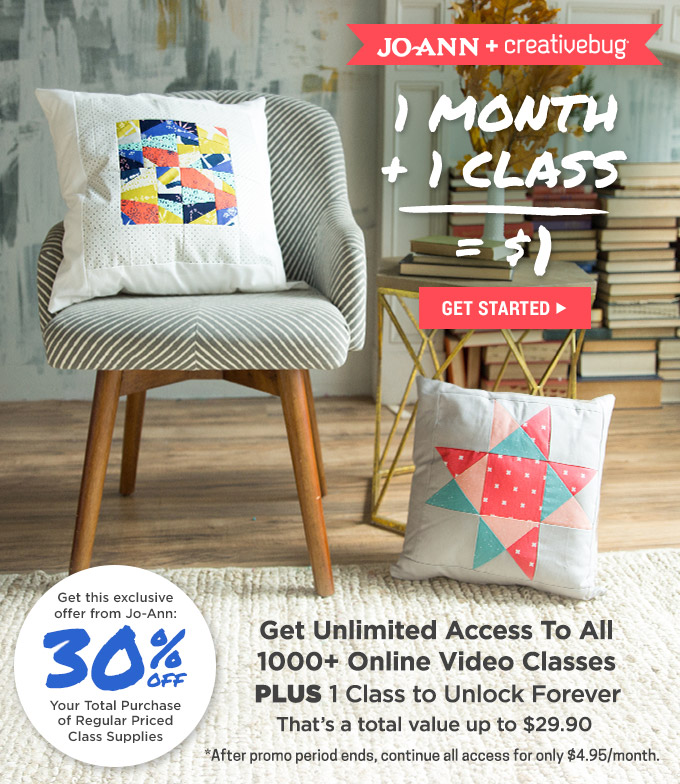 Mother's Day Digital Gift Guide - Creative Bug - online classes for only $1.00