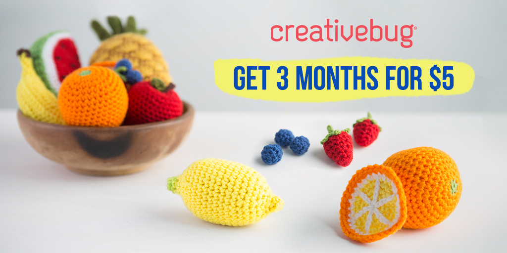 Get 3 Months of Creativebug for $5