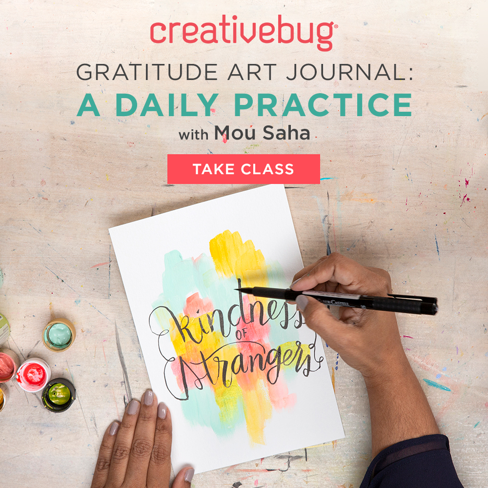 Art Classes for adults - Creative Bug Gratitude Journal Daily Practice