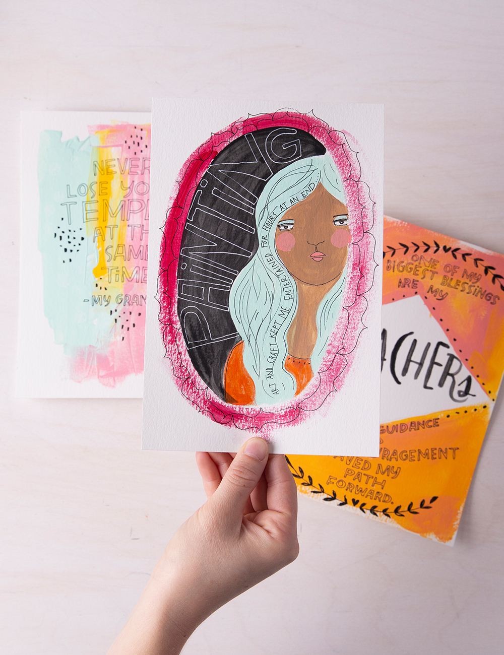DIY Art Journaling Tutorial - Start a Gratitude with Mou Shah on CreativeBug; Take Your First Free Class!