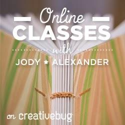 Workshops with Jody Alexander on Creativebug!