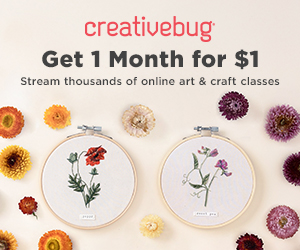 Creativebug get one month for $1