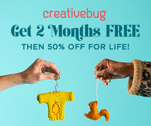 Heads up for a fantastic Creativebug deal!