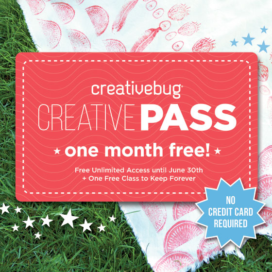 Creativity is Contagious - 1 month free craft classes