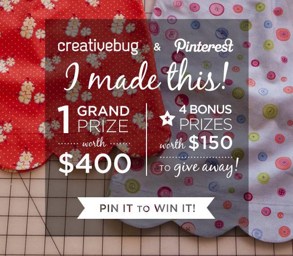 Creativebug Pinterest Contest