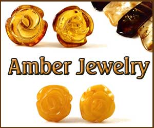 Amber Earrings Roses