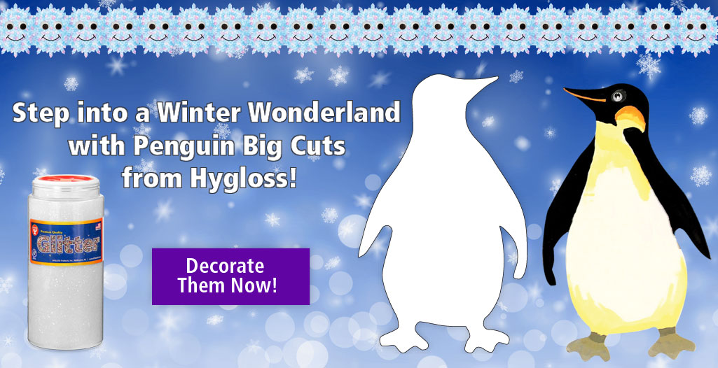 Winter wonderland/; Decorate Penguin Big Cuts from Hygloss