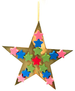 Star Ornament for Christmas Tree