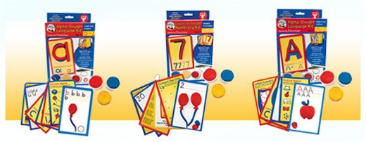 Learn letters and numbers with Dazzlin Dough Kits