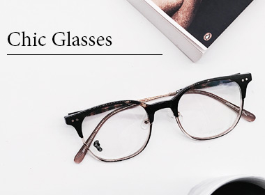 chic glasses banner